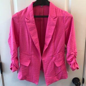 Pink Blazer, 3/4 Ruched Sleeve, Charlotte Russe Sm